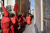 Procession de la Sanch on Good Friday, Perpignan, Pyrenees-Orientales, Languedoc-Roussillon, France