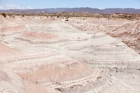 Landscape of rock formations in san juan province of argentina