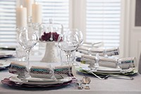 Place setting at table