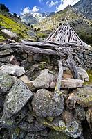 ´Chozos´ (huts) of Tio Domingo in the Garganta de Tejea, Sierra de Gredos, Avila province, Castilla-Leon, Spain