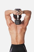 Man exercising with a dumbbell