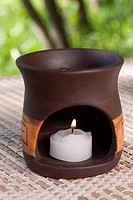 Close_up of an aromatherapy burner