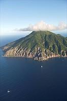 Saba, aerial view