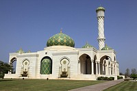 green mosque at Muscat Sultanate of Oman