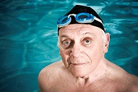 Portrait of a man in a swimming pool