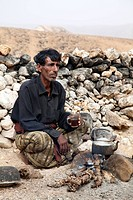 Camel farmer Aubd lives a bedouins life in the desert with his camels