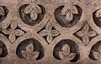 Floral pattern carved on a stone