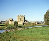 Trim Castle, one of the largest Norman castles in Ireland, in the town of Trim on the River Boyne, County Meath