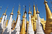 Indein stupas near Inle lake in Myanmar