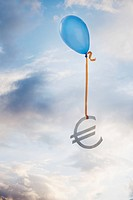 Balloon tied to a euro symbol