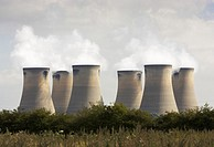 Cooling towers at Drax power station near Selby North Yorkshire England UK