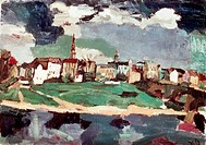 New City Of Dresden Iii, Kokoschka, Oskar 1886_1980/Austrian, Marlborough Fine Arts Ltd. Collection, London