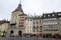 Buildings in Bärenplatz, Bern, capital of Switzerland