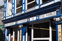 Hay on Wye POWYS WALES Victoria shopfront booksellers Richard Booth bookshop booktown