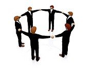 business teamwork 3d illustration over a white background