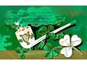 A vintage card with a St Patricks Day poem