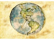 A clock in the shape of the world (thumbnail)