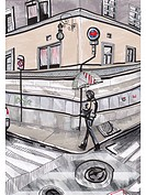 A person crossing the street with an umbrella (thumbnail)
