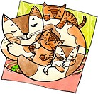 A cat with kittens (thumbnail)
