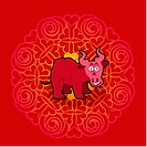 Chinese new year symbol of bull
