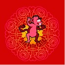 Chinese new year symbol of monkey