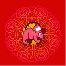 Chinese new year symbol of mouse