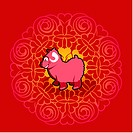 Chinese new year symbol of ram