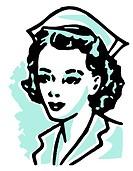 An illustration of a nurse