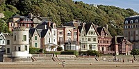 VILLAS ON THE BEACH OF TROUVILLE_SUR_MER, CALVADOS 14, NORMANDY, FRANCE