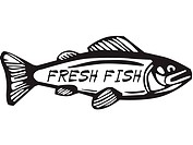 A fish that reads Fresh Fish
