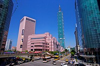 Taiwan, Taipei, Taipei 101, Xinyi Commercial Center, Taipei World Trade Center (thumbnail)