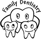 A group of teeth embracing with the words Family Dentistry written on the top