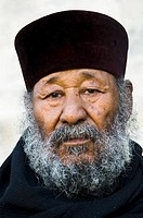 Portrait of an Ethiopian orthodox priest taken during his pilgrimage in Jerusalem