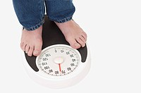 Domestic Life, People standing on the weight scale