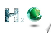 Lohas, Environmental Conservation, Digitally generated image of symbol of water H2O