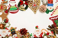 Gingerbread Cookies forming a frame