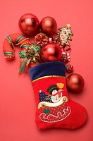 Christmas Stocking and decorations (thumbnail)