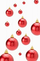 Red Christmas baubles (thumbnail)