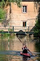 CANOEING_KAYAKING ON THE LOIR, BONNEVAL, EURE_ET_LOIR 28, FRANCE