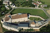 AERIAL VIEW OF THE FARM AT THE ABBEY OF BOIS DE NOTTONVILLE, EURE_ET_LOIR 28, FRANCE