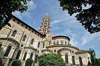 THE SAINT_SERNIN BASILICA´S CHEVET, ROMANESQUE ART, TOULOUSE, HAUTE_GARONNE 31, FRANCE