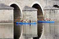 CANOES ON THE CHER, MONTRICHARD, LOIR_ET_CHER 41, FRANCE