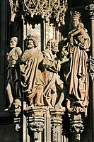 DETAIL, NORTH SIDE OF THE STRASBOURG CATHEDRAL, STRASBOURG, BAS_RHIN 67, ALSACE, FRANCE