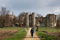 The ruins of Cowdray House at Midhurst  An historic tudor house