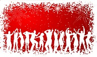 Silhouettes of people dancing on Christmas background