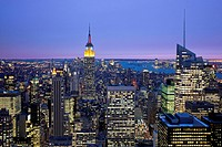 Midtown Manhattan from RCA Bldg., New York City, USA, America