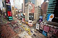 Busy Times Square_Broadway, New York City, USA, America