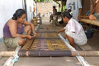 Weavers on Pantar Island, Alor Archipelago, Lesser Sunda Islands, Indonesia