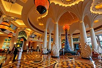 Lobby of Atlantis Hotel, The Palm Jumeirah, Dubai,