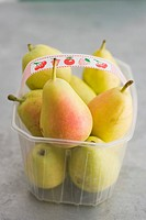 Pears in plastic container